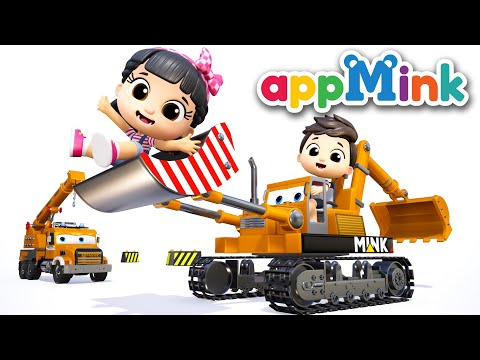 Fire Truck Song ft. Crane Truck - Baby Truck Nursery Rhymes - ABC Song Police Helicopter Kids Videos - 동영상