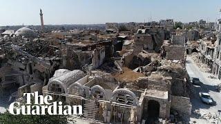 Syria: drone footage shows devastation in Aleppo, Deir ez-Zor and rural Damacus
