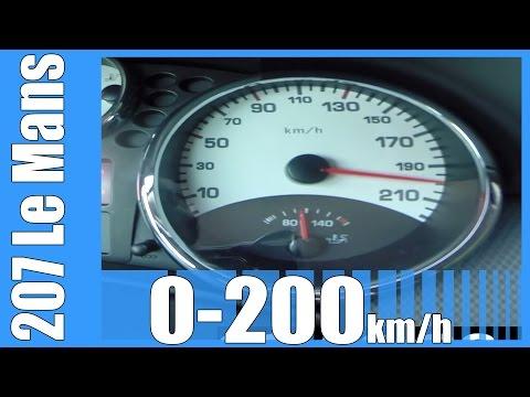 peugeot-207-le-mans-1.6-thp-150-hp-acceleration-0-200-km/h-beschleunigung-autobahn