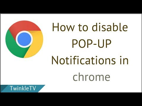 How to Disable Pop-up Notifications in Google Chrome | Turn off Unwanted Notifications and Pop ups