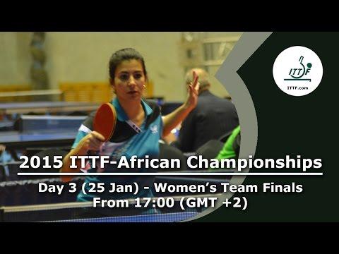 2015 ITTF-African Championship Day 3 - Women's Team Final