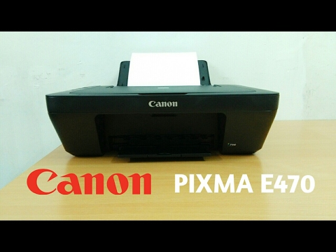 Unboxing/Overview Canon PIXMA E470 All-In-One Inkjet Printer