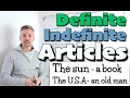Definite and Indefinite ARTICLES (MUST WATCH when starting learning ENGLISH)