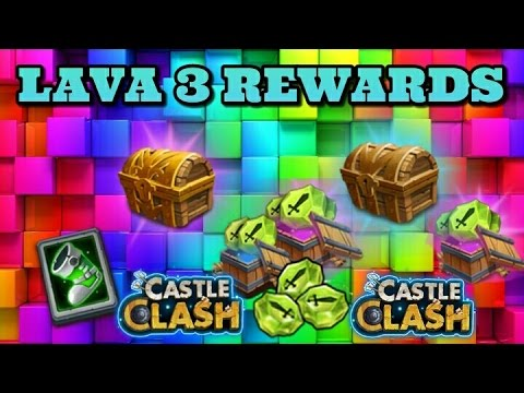 Castle Clash Lava 3 Rewards! Awesome Stuff!