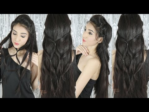 Beautiful Hairstyle for Wedding/Party Trick | Easy Hairstyles | Best Hairstyle for Long Hair thumbnail