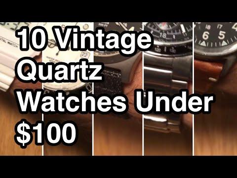 10 Vintage Quartz Watches Under $100