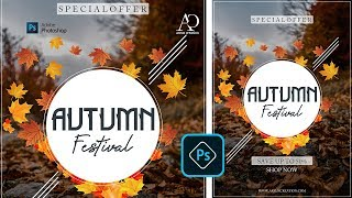 Photoshop Tutorial। How to Create Poster Design in Adobe Photoshop cc 2020 । New Flyer Design 2019