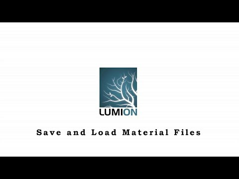 Lumion TIPS and TRICKS - Save and Load Material Files - YouTube
