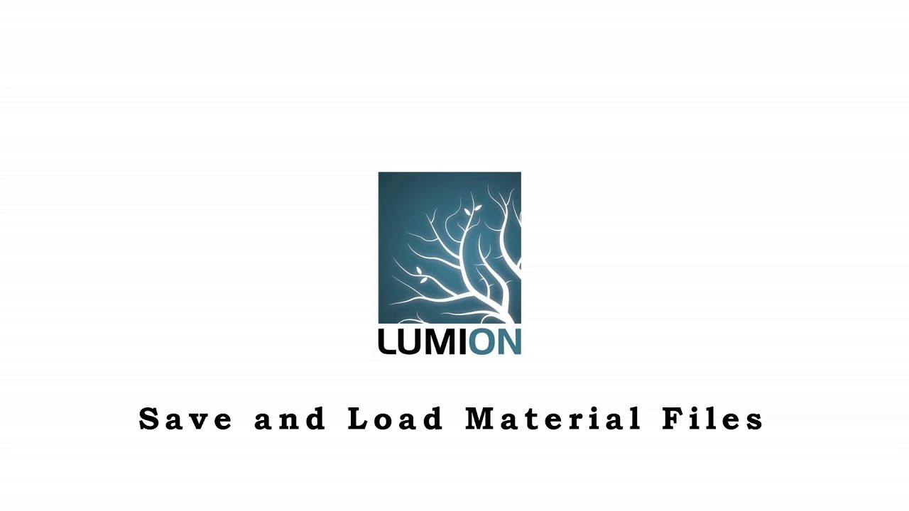 Lumion TIPS and TRICKS - Save and Load Material Files