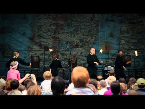 New fire performance by Pulse Effect and Fire Spirit presented in Riga Festival 2012