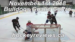 November 1st 2018 Bulldogs, I Score on Myself... Hockey Goalie GoPro Yi 4K+