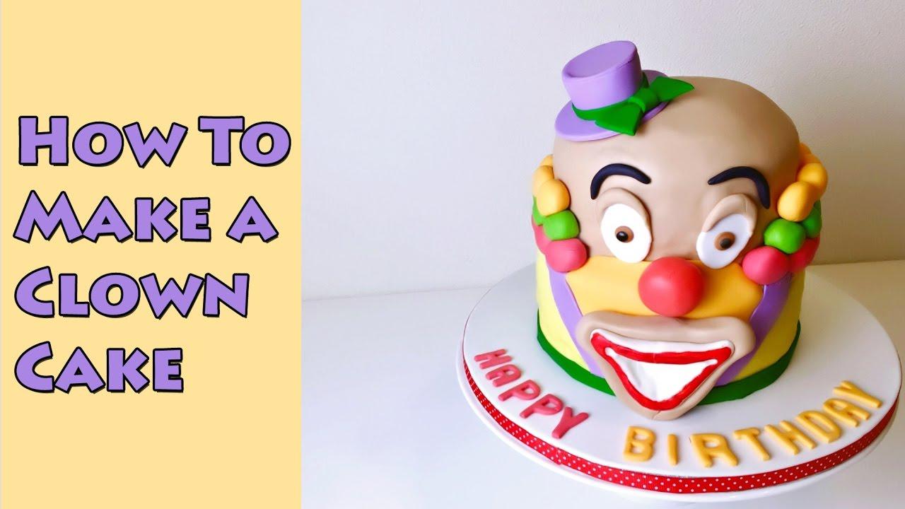 Birthday Clown Cake Decorating Birthday Fondant Cake Decorating
