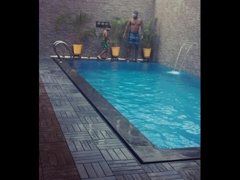 P square Having Fun with His Children in the swimming Pool ( watch Video)