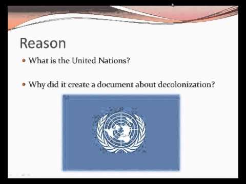 36. Decolonization — Independence and the Postcolonial World
