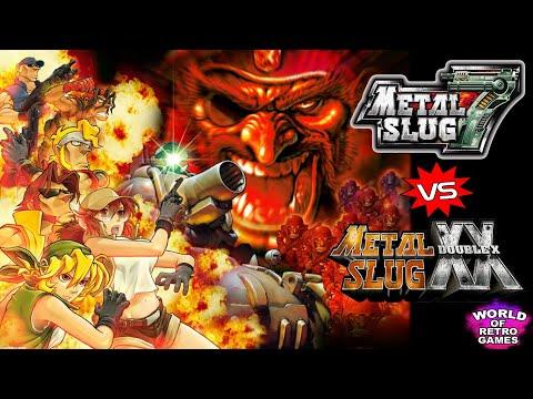 Metal Slug 7 vs Metal Slug XX (N:DS vs PSP) - Side by side comparison | World of Retro Games YT |