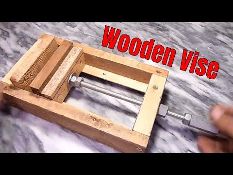 diy wooden vise | how to make wooden vise | homemade wooden vise