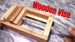 diy wooden vise   how to make wooden vise   homemade wooden vise