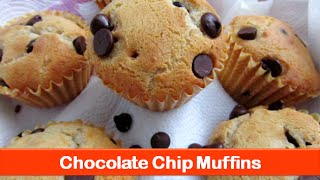 Basic easy muffin recipe|how to make best eggless chocolate chip muffins recipes-let