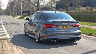 Sport cars & Tuning Cars Leaving Car Meet! Audi S3, Huracan, M4, Golf 7 R & More!