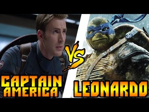 Кто кого? Капитан Америка [Мстители] vs Леонардо [Черепашки-ниндзя]