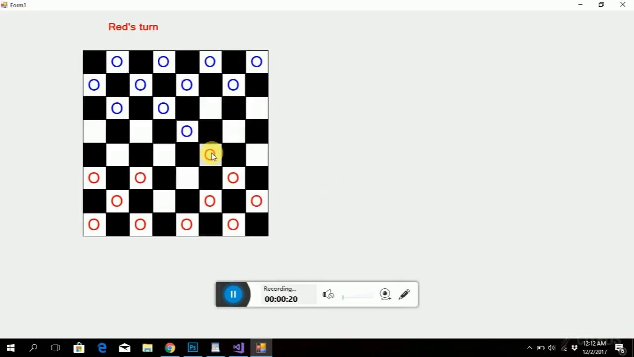 Checkers C++ Project With Source Code