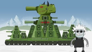 "Cartoon about tanks ""Birth of SOVIET MONSTER KV 44"" Video"