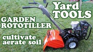Husqvarna Rototiller - Garden Cultivator Aerator - Soil Ground Yard Machine Rear Tine Tiller Jazevox