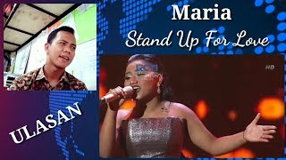 Maria - Stand Up For Love INDONESIAN IDOL 2018 #reaction