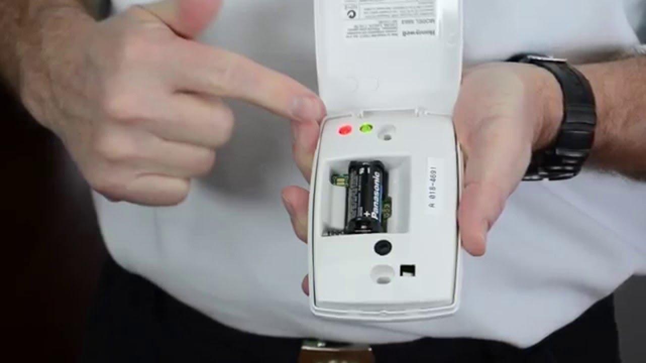 How To Change A Battery In A Honeywell Wireless Audio Glass Break Youtube