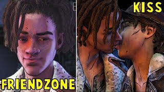 Clem Friendzone vs Kisses Louis Romance -All Choices- The Walking Dead The Final Season Episode 2