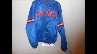 Vintage Satin Starter Jacket Restoration