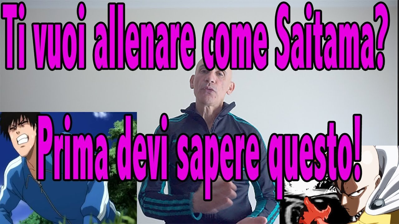 SAITAMA TRAINING. L'ALLENAMENTO DI SAITAMA. - YouTube