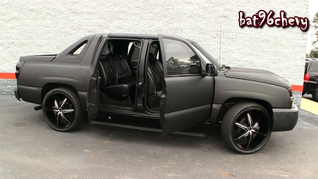 Ultimate Audio Flat Black Wrap Chevy Avalanche On 26 S