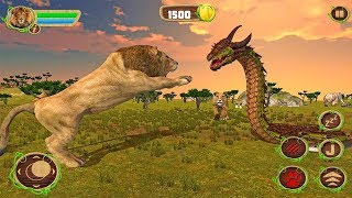 Furious Lion Vs Angry Anaconda Snake: Wild Sim