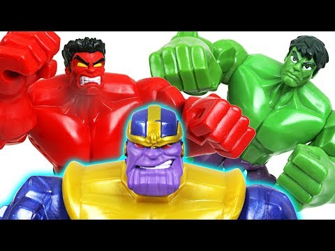 Thumbnail: The strongest Thanos appeared in space! Go! Marvel Avengers Red Hulk, Hulk, Iron Man - DuDuPopTOY