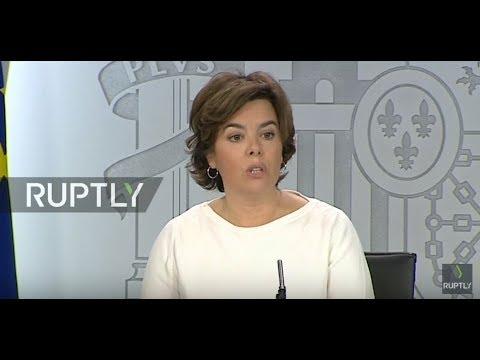 LIVE: Spanish government holds press conference following Cabinet meeting