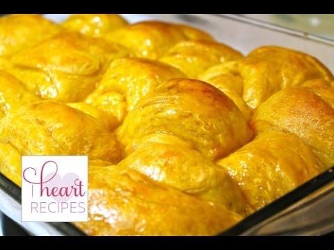 Honey Butter Sweet Potato Dinner Rolls   I Heart Recipes - YouTube
