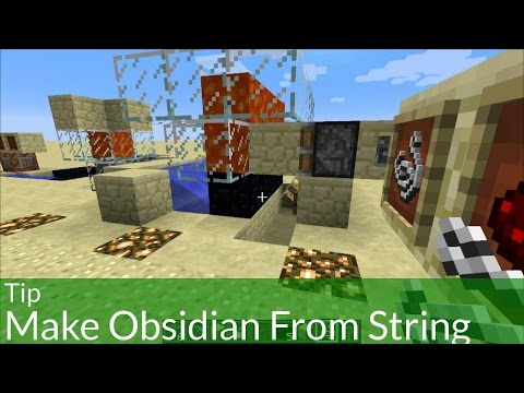 Tip: Make Obsidian From String In Minecraft