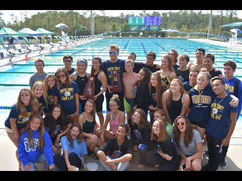 Martin County High School Swim and Dive Team 2018-2019.