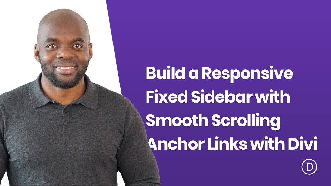 How to Build a Responsive Fixed Sidebar with Smooth Scrolling Anchor Links  with Divi