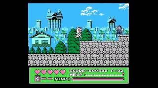 Dendy NES Ninja Cat Kyatto Ninden Teyandee Jp Полное прохождение Longplay