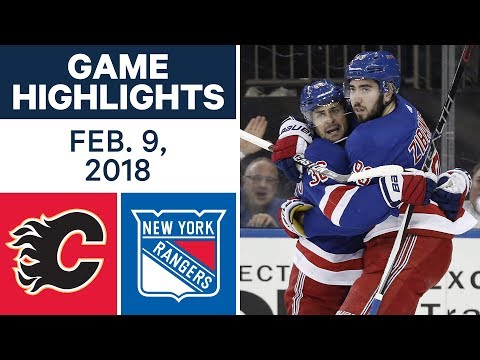 NHL Game Highlights | Flames vs. Rangers - Feb. 9, 2018