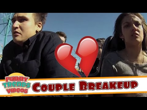Couple Breaks Up On Roller Coaster  Worst Break Up Ever