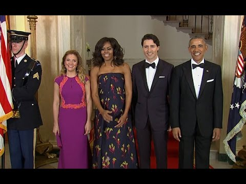 Obama Hosts Justin Trudeau, Canadian Celebrities at US State Dinner