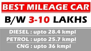BEST MILEAGE CAR IN INDIA 2017-2018|MOST FUEL EFFICIENT CAR IN INDIA 2017| CAR WITH MILEAGE OVER 25