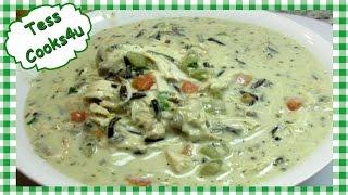 How to Make Creamy Chicken Wild Rice Soup  Leftover Chicken Recipe