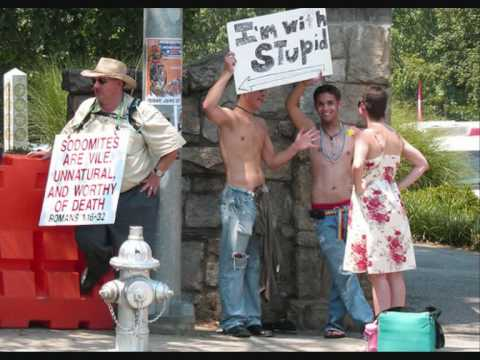 Gay protest signs (funny)