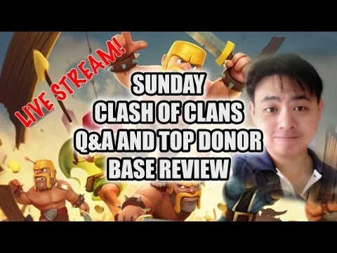 Sunday live show 7pm to 7.30pm Singapore time 4th August 2013 Clash of Clans