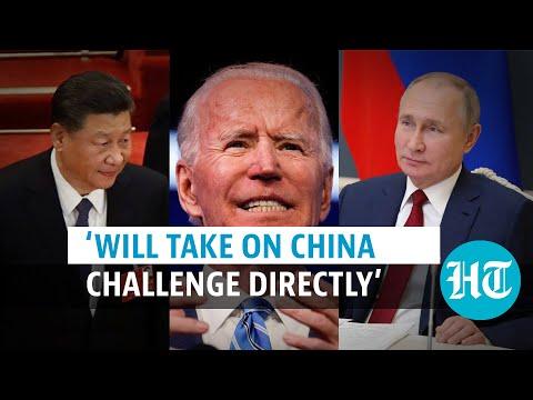 Watch: US President Joe Biden talks tough on Russia & China