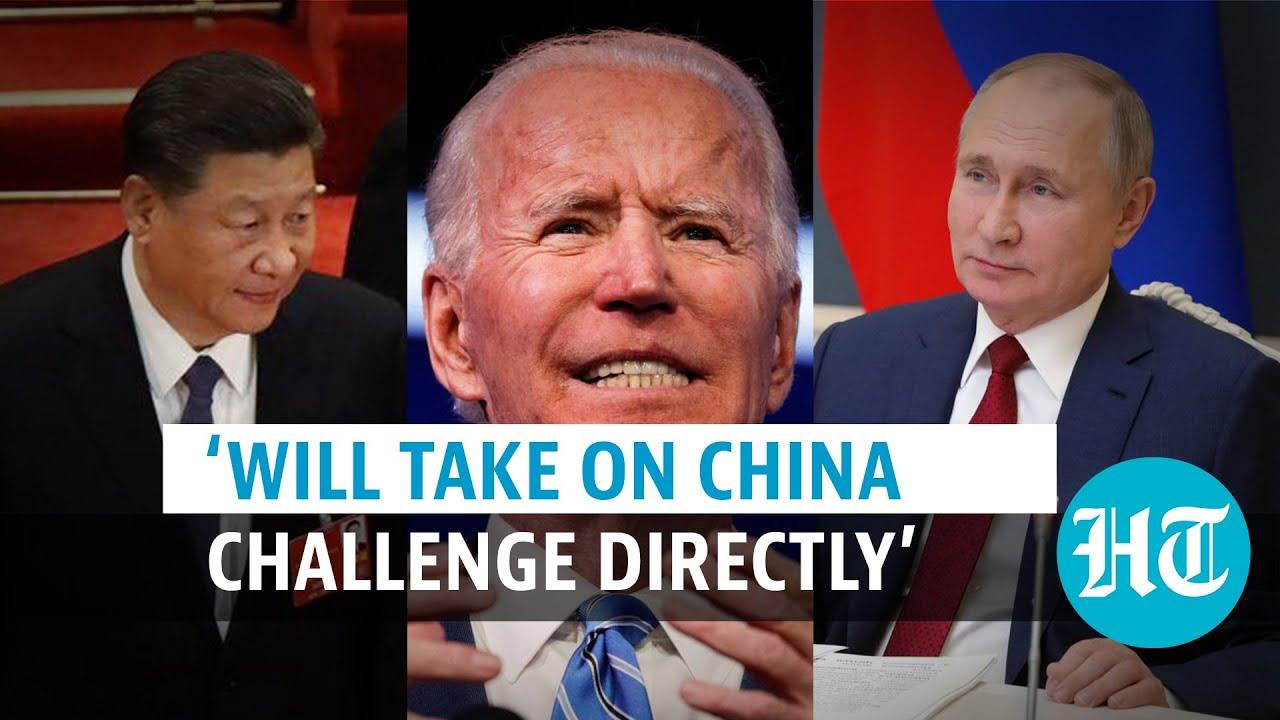Watch: US President Joe Biden talks tough on Russia & China